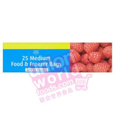 Happy Shop 25 Medium Food & Freezer Bags