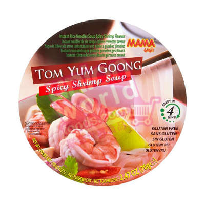 Mama Cup Rice Noodle 2mm Tom Yum 50g