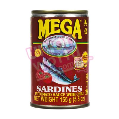 Mega Sardine In Tomato Sauce & Chilli 155g