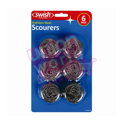 Stainless Steel Scourers 6 pack