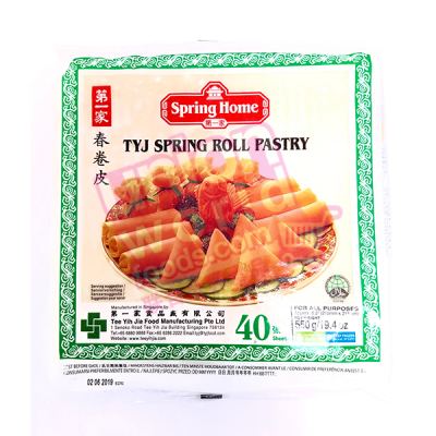 """TYJ Spring Roll Pastry 8.5"""" 40 Sheets"""