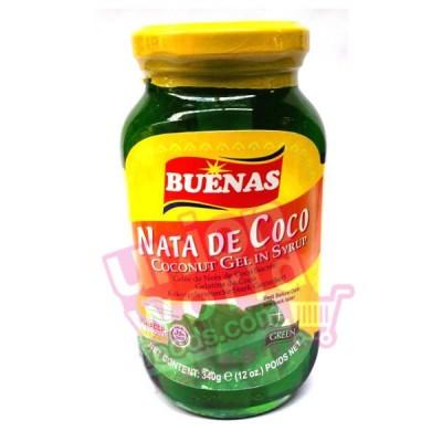 Buenas Coconut Gel In Syrup (Green) 340g